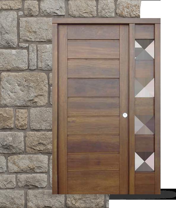 Puertas modernas carpinteria juan morena for Puertas de entrada de madera modernas